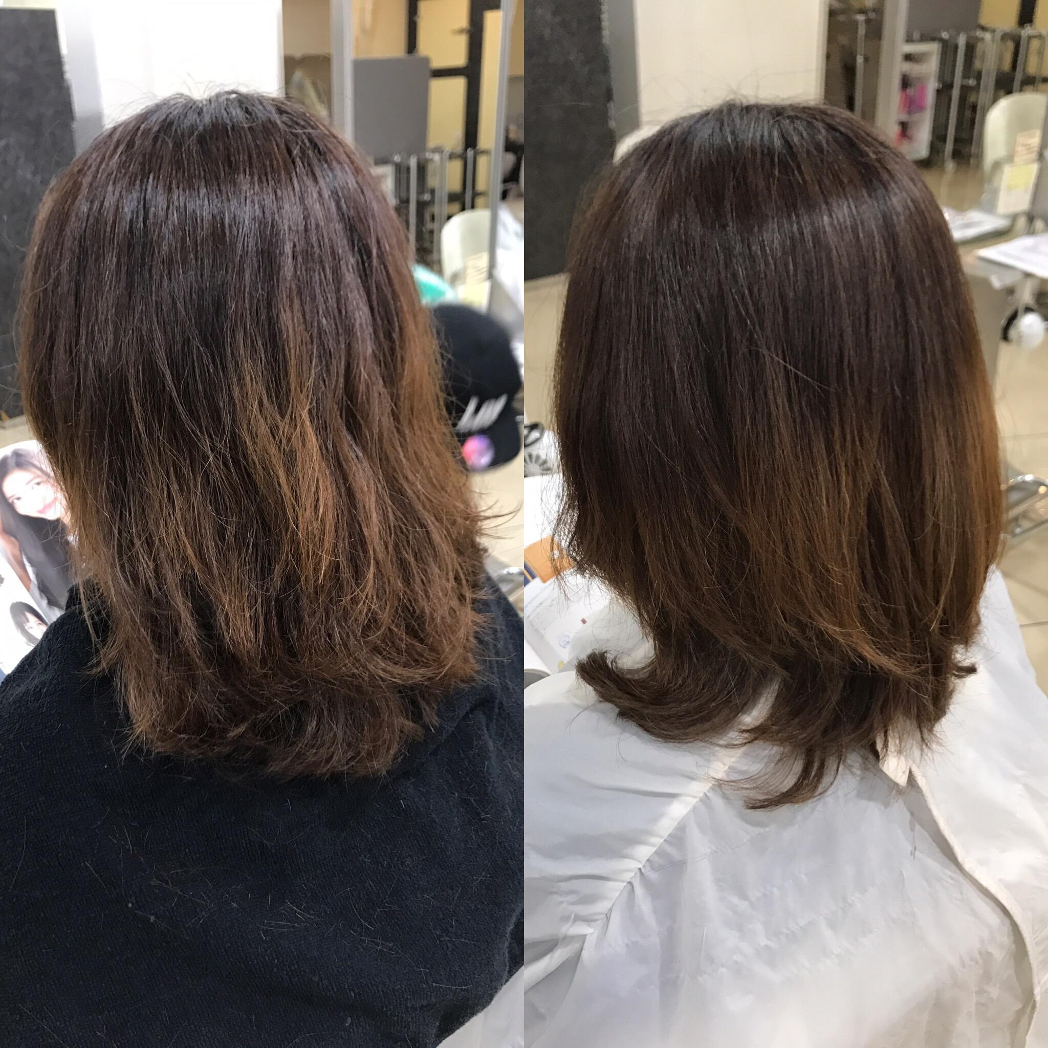 【復元トリートメント】は根元の『ペタン』にはなりにくい処方です。髪のお悩みに合わせた処方ができるのも魅力です^ ^