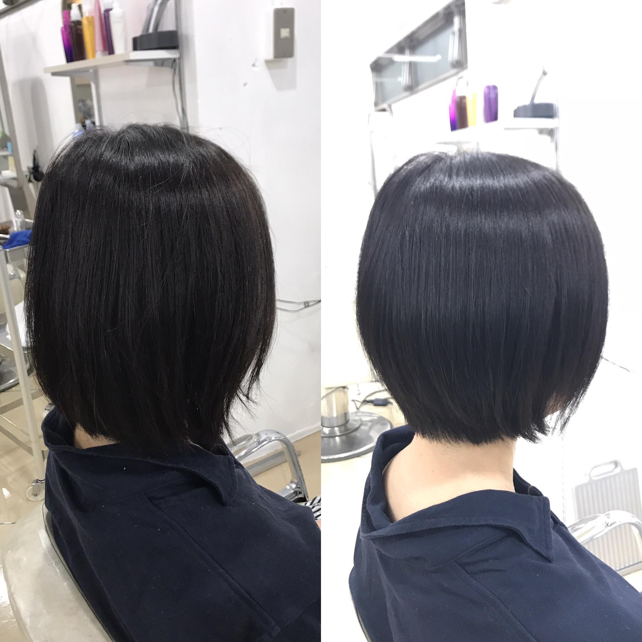 髪質改善で梅雨を乗り切り、陽射しの強い夏に備える。ダメージ戻しとトリートメントのヘアケアも^ ^