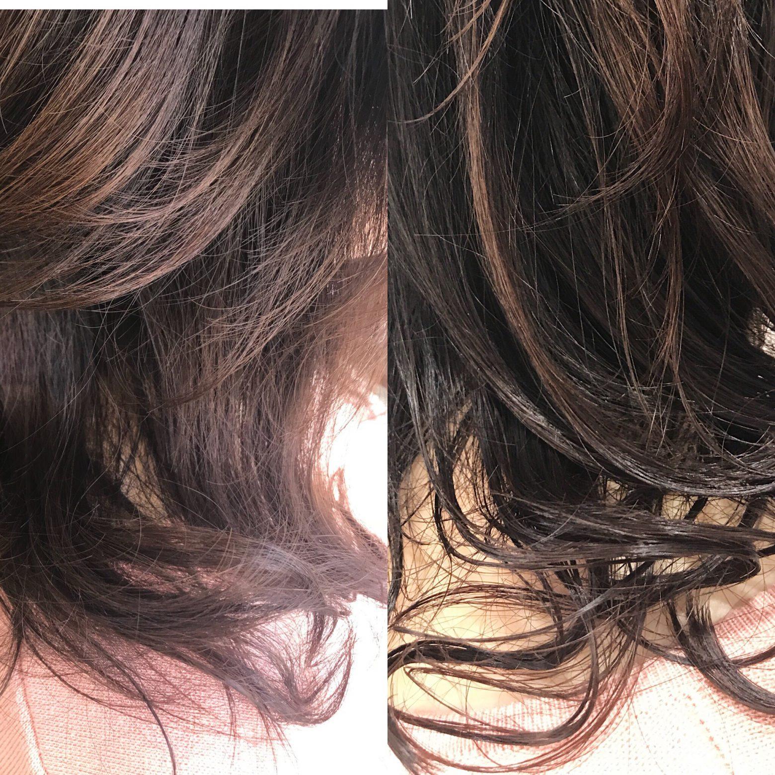【上品、上質な感じでナチュラル。】そんなイメージで取り組むヘアケア。パーマのカールも潤いの質感に!