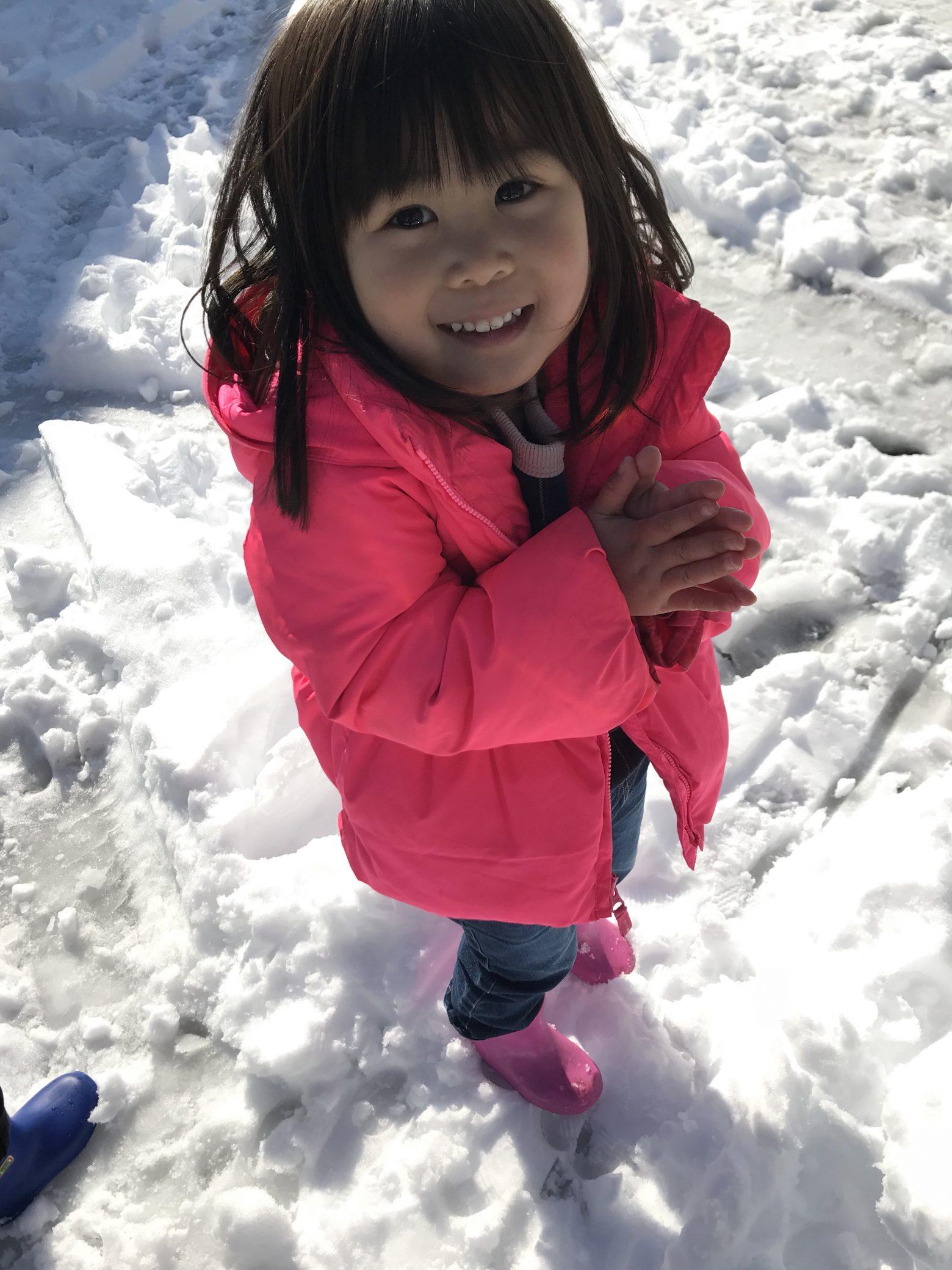 雪。子供遊びと大人は大変だけどいい事も!